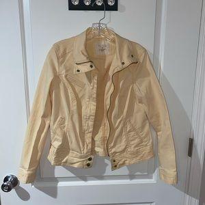 Light Yellow Denim Jacket